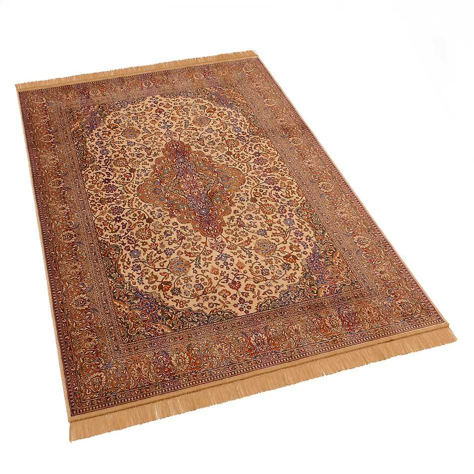 Persian Medallion Artsilk Faux Silk Effect Rugs 9099/4 140 x 200cm