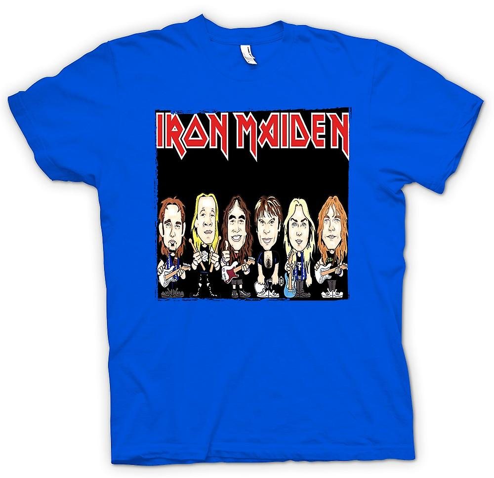 Herr T-shirt - Iron Maiden - tecknad Band