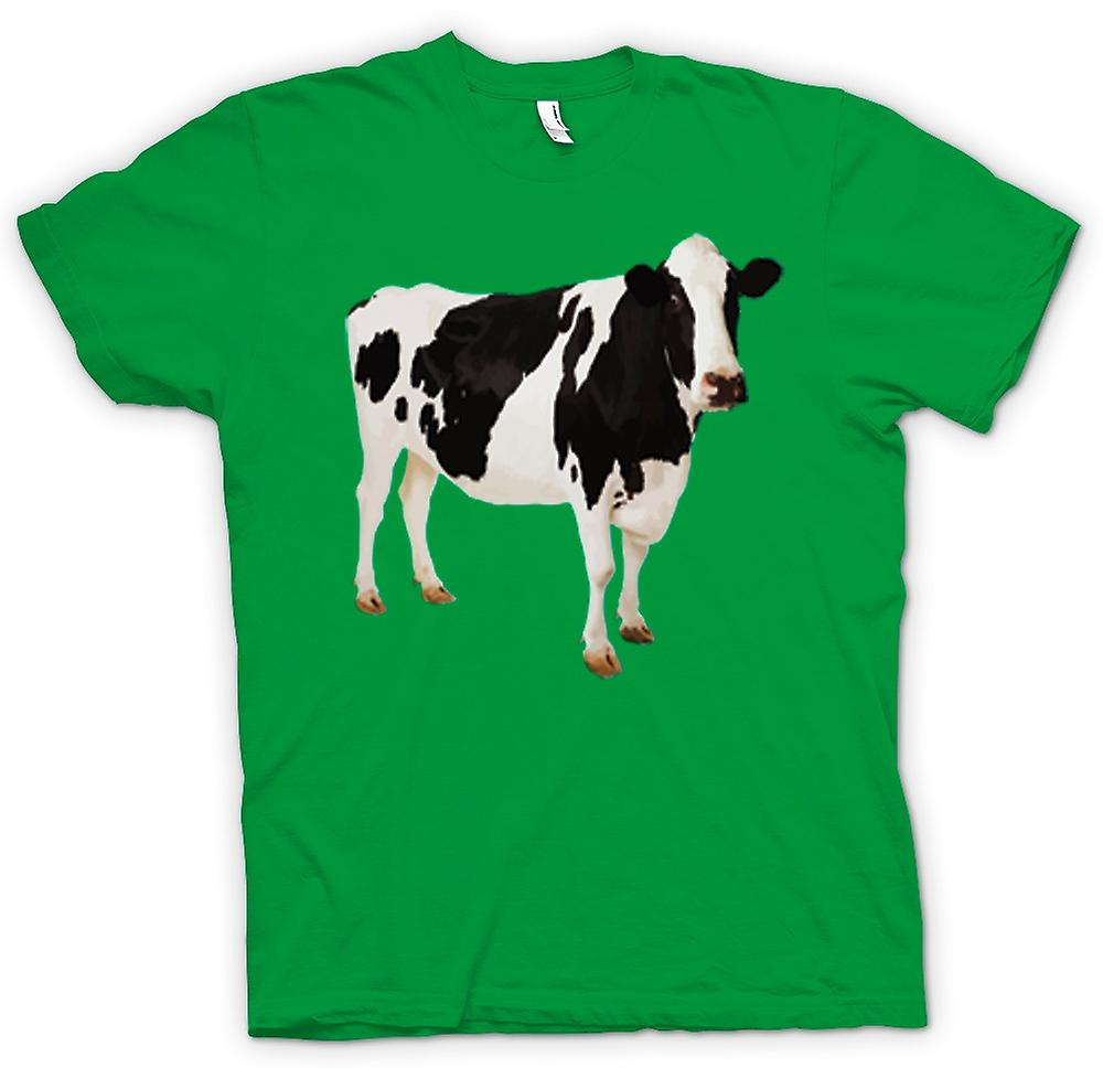 Mens T-shirt - Friesian Cow - New