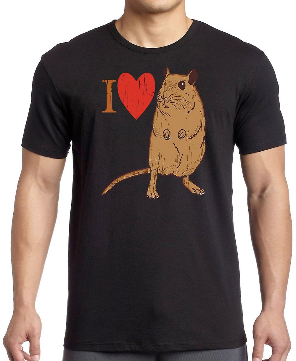 I Love Gerbils - Cool Pet T Shirt