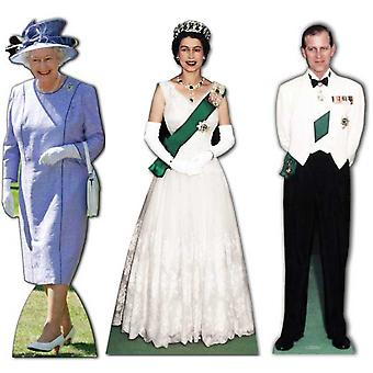 Ultimate Diamond Jubilee Lifesize Cardboard Cutout / Standee Set (Queen Elizabeth 1953 - 2012 and Prince Philip)