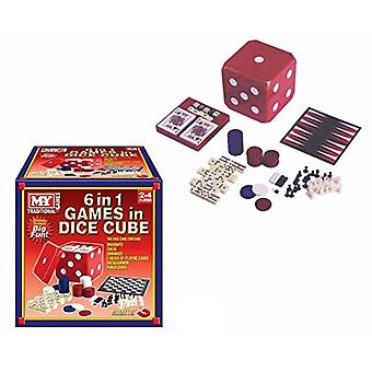 MY Traditional Games 6 in 1 Games in Dice Cube