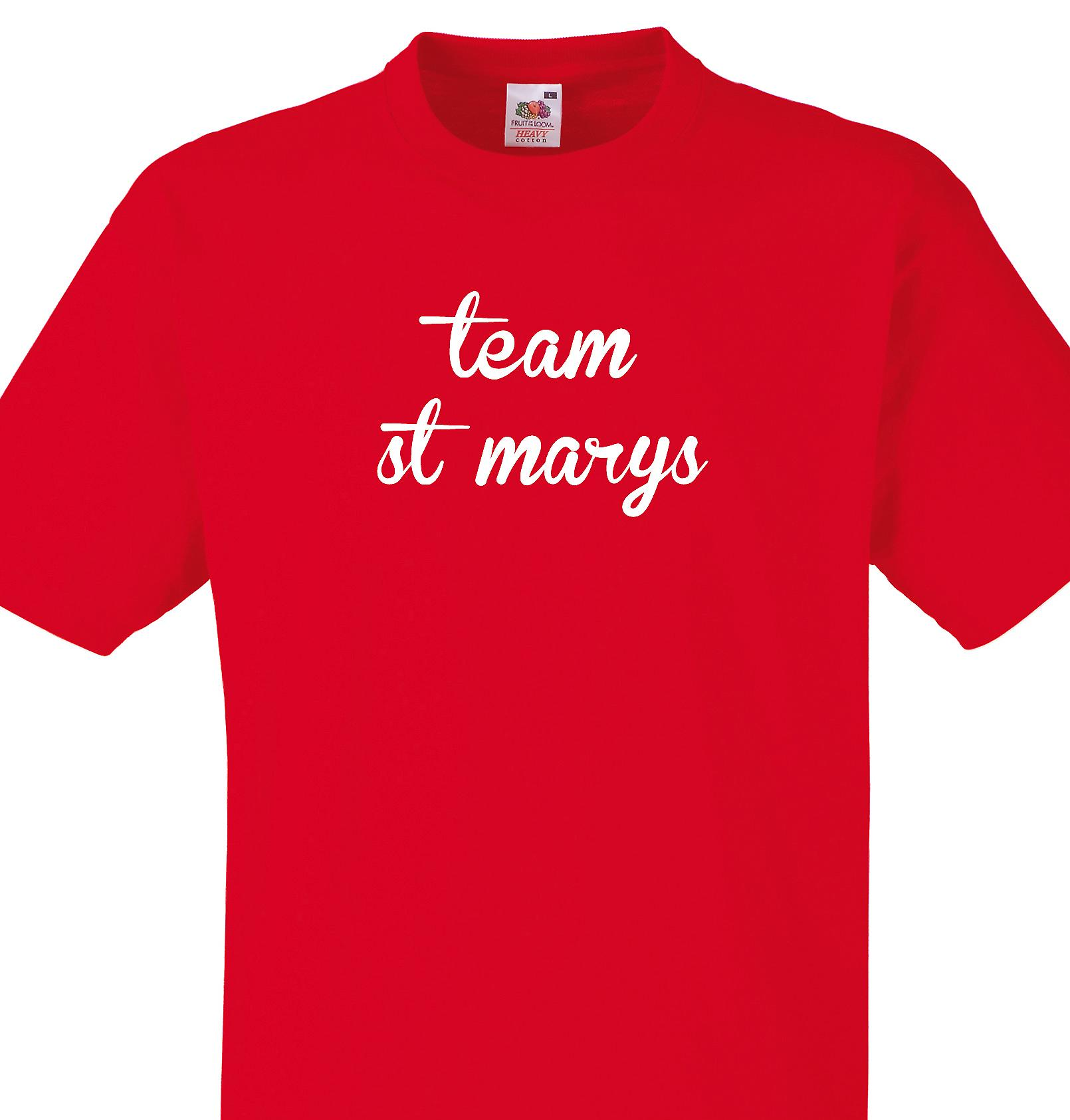 Team St marys Red T shirt