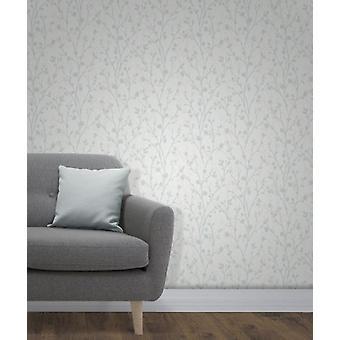 Flanco de Twiggy elegante decoración de la pared de fondo azul 0,52 x 10,05 m