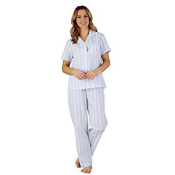 Slenderella PJ3223 Women's Woven Pajama Pyjama Set