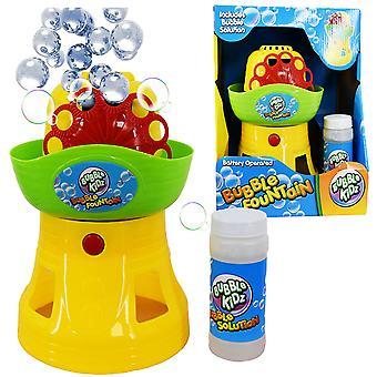 La máquina de burbujas de juguete mágico tienda burbuja fuente