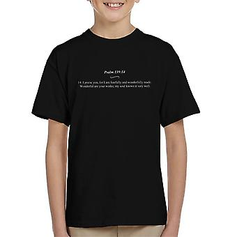 Religious Quotes Fearfully And Wonderfully Made Kid's T-Shirt