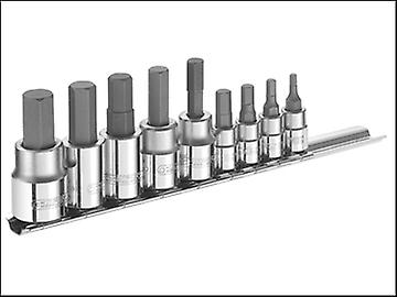 Britool Hex Bit Socket Set of 9 1/4 & 3/8in Drive