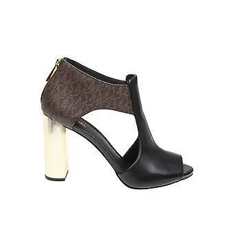 Michael Kors Brown/black Leather Sandals