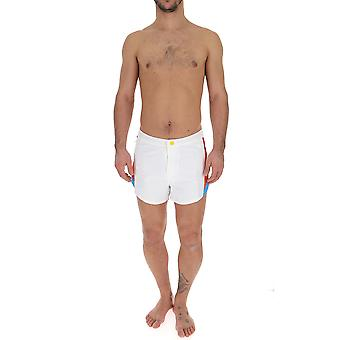 Msgm White Polyester Trunks