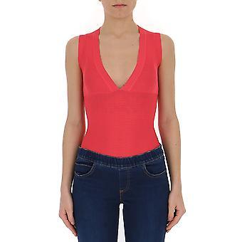 Elisabetta Franchi Red Viscose Bodysuit