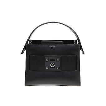 Salar schwarze Lederhandtasche