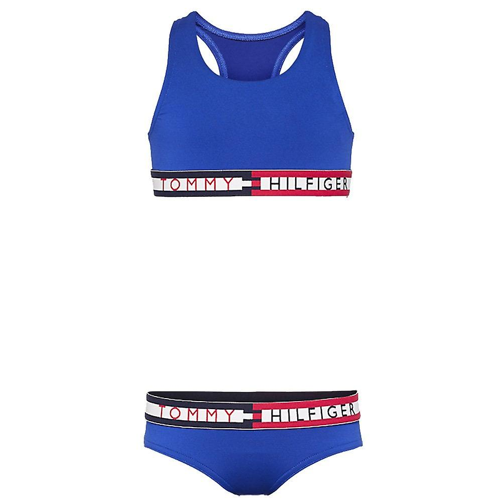 Tommy Hilfiger Girls Swim Bikini Set, Surf The Web, XX-Large