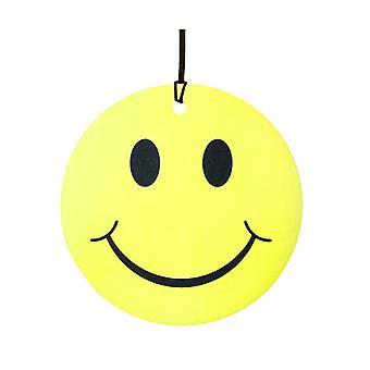 Yellow Smiley Face Car Air Freshener
