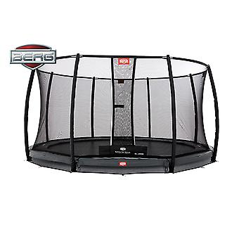 BERG InGround Champion 430 14ft Trampoline+ Safety Net Deluxe Grey