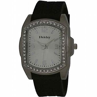 Henley Gents énorme pneu Bling Watch Diamante cristaux