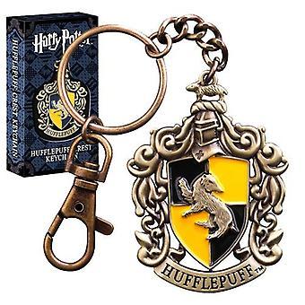 Harry Potter Hogwarts Hufflepuff Crest Keychain