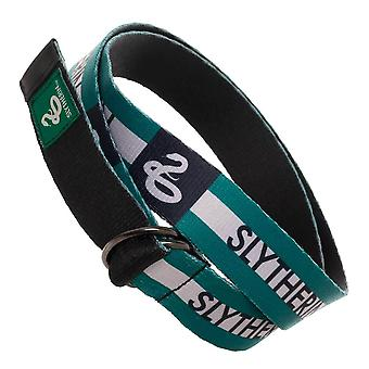 Harry Potter Slytherin webbed ceinture D-Ring