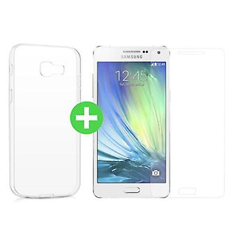 Stuff Certified ® Samsung Galaxy A5 2016 Transparent TPU Case + Screen Protector Tempered Glass