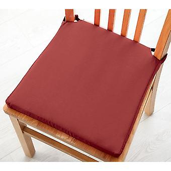 Pack of 2 Cotton Twill Dining Chair Seat Pad Cushion - Wine