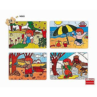 Akros Set Zaro and The 4 Seasons Puzzle 4-Piece Toy