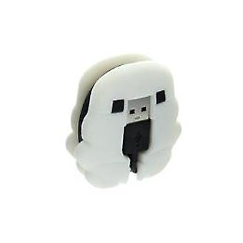 Star wars: storm trooper controller charging cable with cable tidy (ps4)