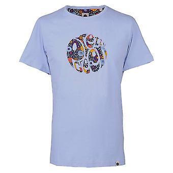 Pretty Green Lilac Floral Print Applique T-shirt