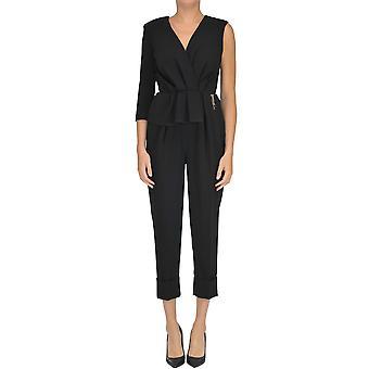 Elisabetta Franchi Black Polyester Jumpsuit