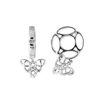 Storywheels Silver & Diamond Bee Dangle Charm S108D
