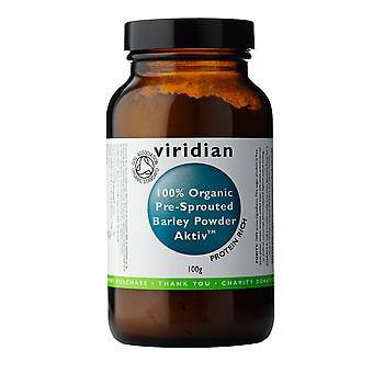 Viridian Pre-sprouted Aktivated Barley Powder 100% Organic, 100g