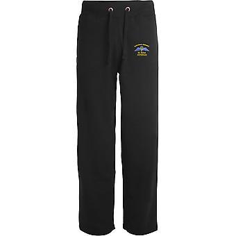 4 PARA 4e Régiment d'ailes de parachutistes - Vétéran - Licensed British Army Embroidered Open Hem Sweatpants / Jogging Bottoms
