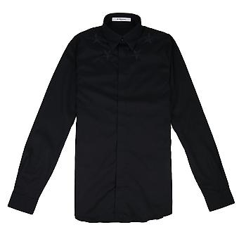 Givenchy Stern bestickt Poplin Shirt schwarz