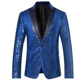 Allthemen Men's Sequins Blazer Dance Performance Suit Giacca