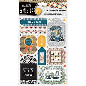 Papermania Mr. Mister A5 Die-Cut Toppers/Sentiments 2/Pkg-  PM157255