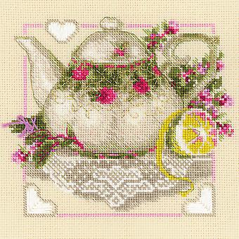 Tea With Lemon Counted Cross Stitch Kit-8