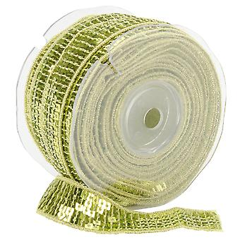 Sequin carré vert Lime de garniture de 22 Mm X 15,95 verges 9801 22 16