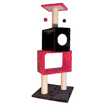 Arquivet Red And Black 50X50X124Cm Scraper (Cats , Toys , Scratching Posts)