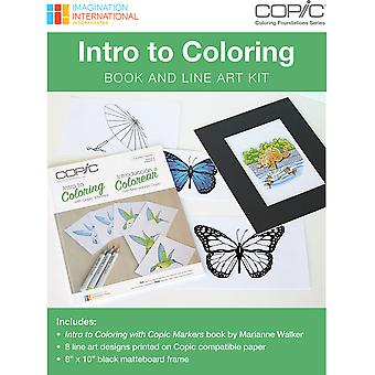 Copic Intro To Coloring Book & Line Art Kit- CBINTROK