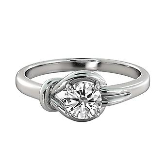 1.50ct White Sapphire Ring White Gold 14K 4 prongs Round