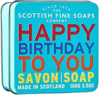 Scottish Fine Soaps Happy Birthday To You Soap Tin