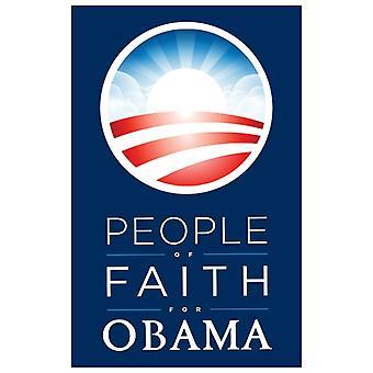 Barack Obama - (människor av tro för Obama) kampanj affischen filmaffisch (11 x 17)