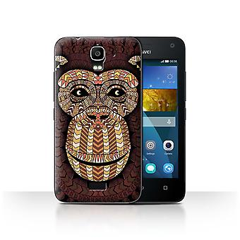 STUFF4 Tilfelle/Cover for Huawei Y3/Y360/Monkey-Orange/Aztec dyr