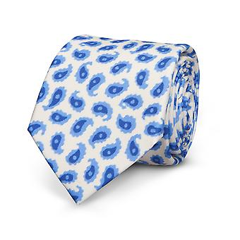 View men's tie silk white Paisley silk tie special offer