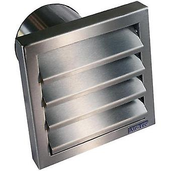 Extractor hood with backflow flap Stainless steel Suitable for pipe diameter: