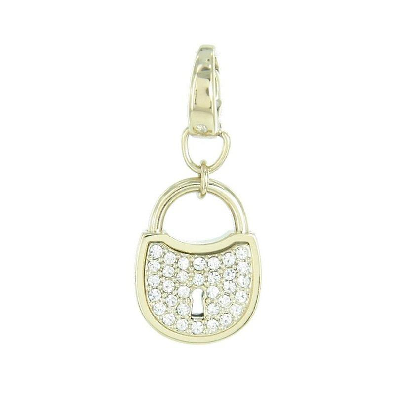 Fossil pendants charms JF00036710 Castle gold rhinestones