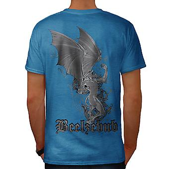Male mito Gargoyle Mad Monster Royal Blue t-shirt uomo indietro | Wellcoda