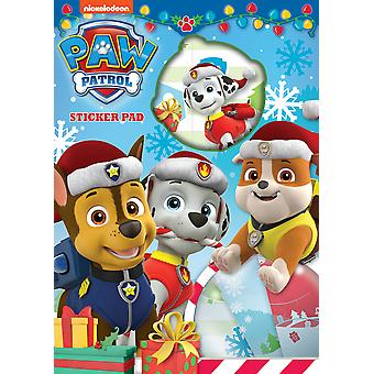 Paw Patrol Christmas Sticker Pad Over 25 Stickers