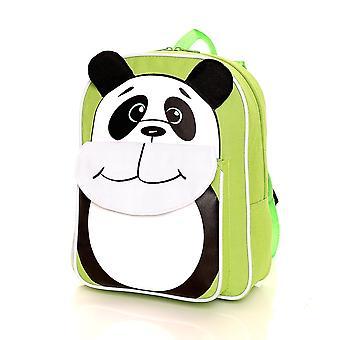 Karabar mochila Panda para niños, verde