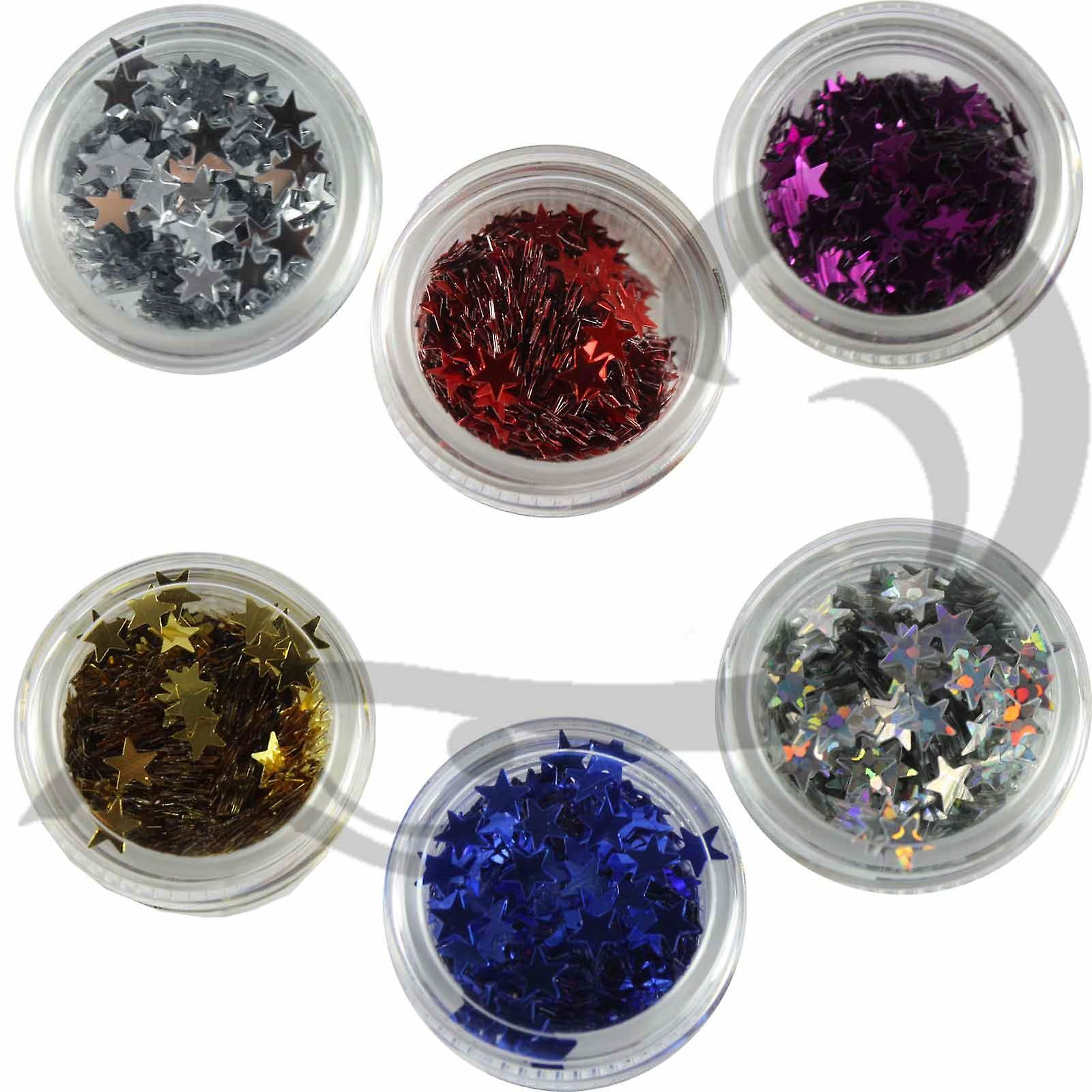 Stargazer Face/Body Glitter Stars Set Of 6