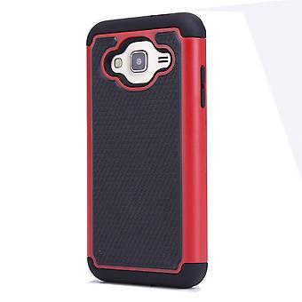 32nd stød bevis tilfældet + stylus for Samsung Galaxy J3 (2016) - rød